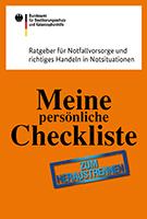 Ratgeber Notfallvorsorge meine persönliche Checkliste